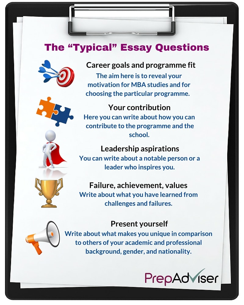 """The """"typical"""" MBA essay questions"""