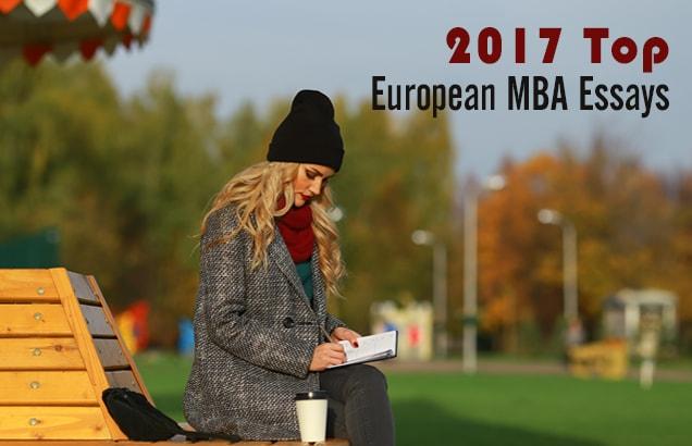 2017 Top European MBA Essays