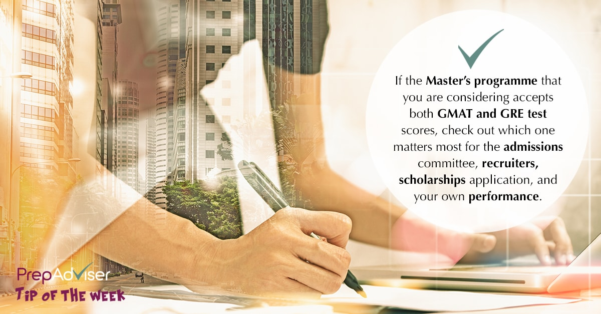 Master's programme accepting GMAT & GRE