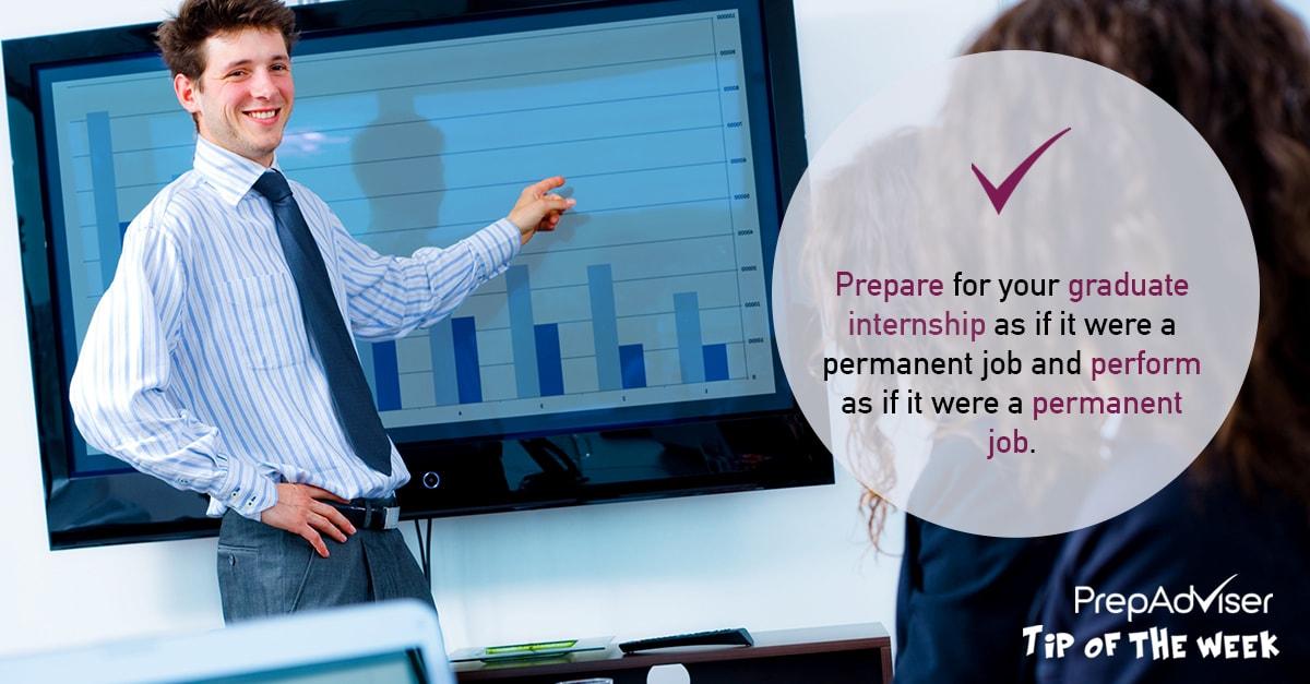 Prepare for graduate internship