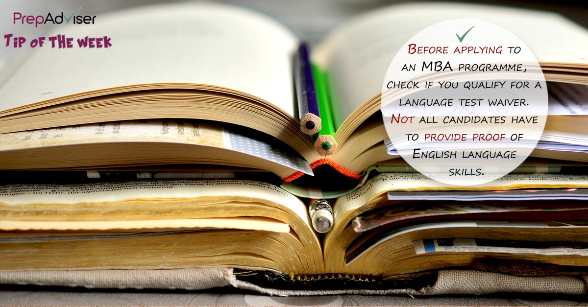 Before applying to an MBA programme check if you need to take english test