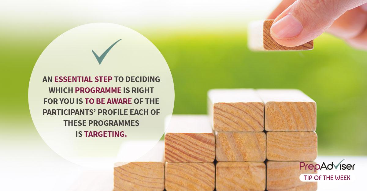 Tip Right Programme Participants Profile PrepAdviser