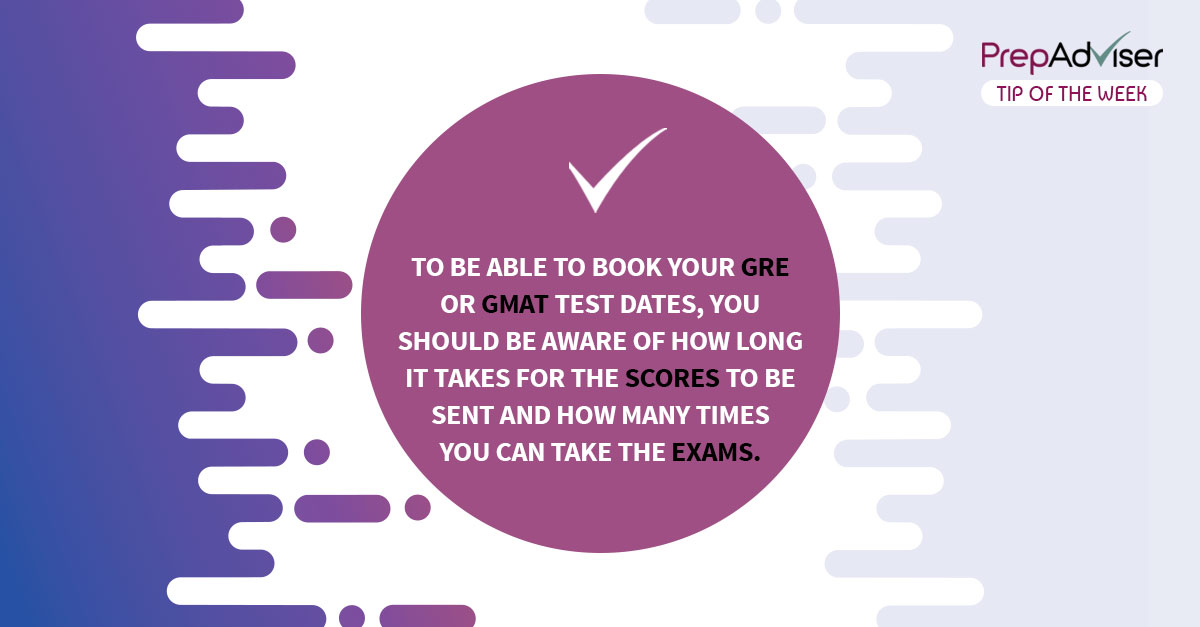 How to choose GRE and GMAT test dates
