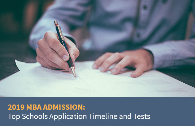2019 MBA Admission: Top Schools Application Timeline and Tests